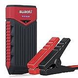 Suaoki T10 12000mAh 400A Jump Starter Démarrage de Voiture Booster Batterie Alimentation Eléctrique d'Urgence pour Voiture Camion Moto Bateau Automobile avec LED Flashlight, Rouge et Noir