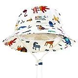 DRESHOW Chapeau de soleil pour bébé Protection contre le soleil pour tout-petits - Chapeau unisexe d'été - Chapeau avec jugulaire - UPF 50+