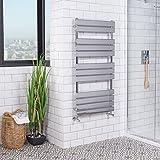 Sèche-serviette radiateur plat design eau chaude 555 Watts 1200 x 600 chrome Salle de bain