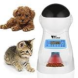Amzdeal Distributeur Automatique de Nourriture pour 3 fois/Jour Pet Feeder Automatique Distributeur de croquettes Gamelle pour Chien/Chat (grand, moyen, petit)