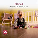 YI Caméra Dôme de Surveillance Caméra de Sécurité Bébé Moniteur WiFi - Caméra IP HD 1080p - Grand Angle Détection de Mouvement Vision Nocturne Service Cloud Disponible - Noir