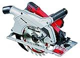 Einhell Scie circulaire TE-CS 190 (1500 W, Régime 5500 trs/mn, Capacité de coupe 90°/45° : 66/48 mm, Lame Ø 190 x Ø 30 x 2,8 mm, 24 dents, Livré avec butée parallèle, adaptateur pour aspiration et clé pour changement de lame)