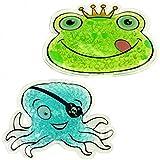 2x Compresses chaud/froid, grenouille önig, pieuvre Pirate ou Dauphin, avec billes de gel, réchauffer,, compresse froide, coussin rafraîchissant, la chaleur kompres,