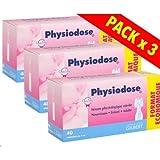 Physiodose Sérum physiologiques Lot de 3 botes de 40 unidoses