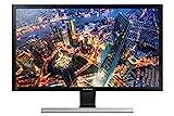Samsung U28E570DS 28' 4K Ultra HD Noir, Métallique, Argent écran plat de PC - écrans plats de PC (71,1 cm (28'), 3840 x 2160 pixels, LED, 1 ms, 370 cd/m², Noir, Métallique, Argent)