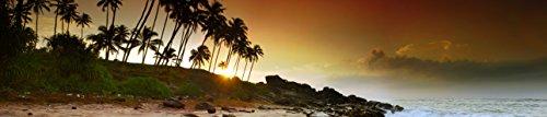 'Chauffage infrarouge image Chauffage Premium, sans cadre avec photo, 630W, 150x 32x 1,5cm Motif île