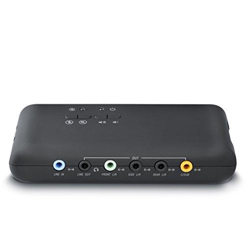 CSL - USB 7.1 Carte Son Externe 8 canaux - 7.1 canaux boîtier sonore USB - Dynamic 3D Surround Sound - Enregistrement et Transmission simultanés - appareils Audio analogiques et numériques - Noir