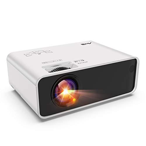 Retroprojecteur Mini, Artlii Videoprojecteur Portable LED Soutien HD 1080p, 3800lumen, 200'', Video projecteur Compatible HDMI USB VGA AV iphone,Mac,Android pour Film, Jeux