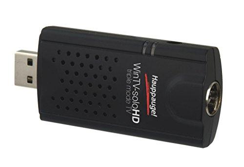 Hauppauge WinTV USB Tuner TV Décodeur TV pour DVB-C, DVB-T/T2 Noir