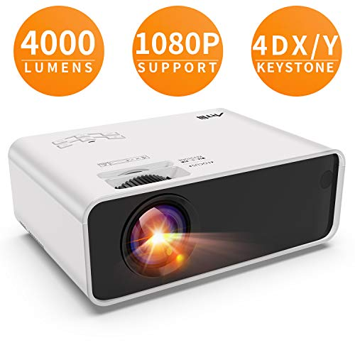 Artlii Retroprojecteur HD, Video projecteur 1280x800p 3D - Projecteurs LED Relier Ordinateur Portable PC iPhone Smartphone pour Jeux Video Films