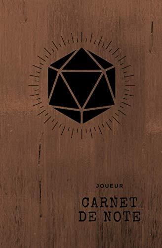 Carnet de note JDR: Carnet de jeu pour personnage joueur | Tracker de points de vie et de classe d'armure | Inventaire, liste de Sort, Dons | 100 pages quadrillées 13,34 cm x 20,32 cm
