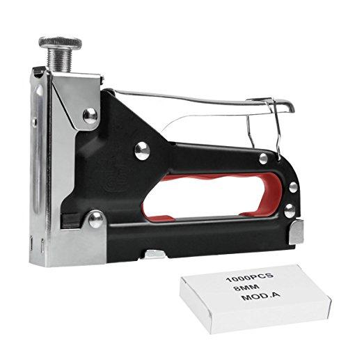 Agrafeuses bricolage, Migimi Agrafeuse à main Convient pour la fixation rapide de tissus, de films, de carton bitumé, de matériaux isolants de treillis