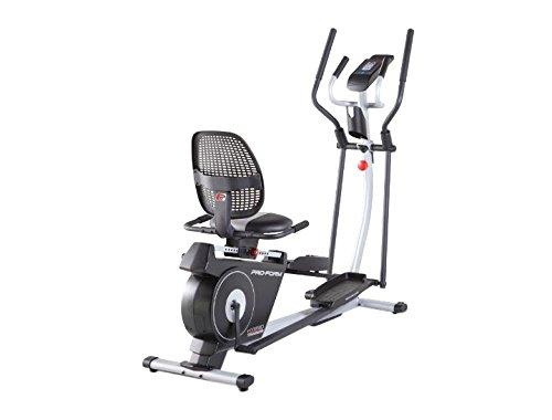 Proform Hybrid Trainer Vélo d'appartement 2en1 (elliptique et semi-allongé), compatible Bluetooth Appli iFit Cardio, 16 niveaux de résistance motorisée, 16 programmes, Usage Sport, Fitness, Bien-être