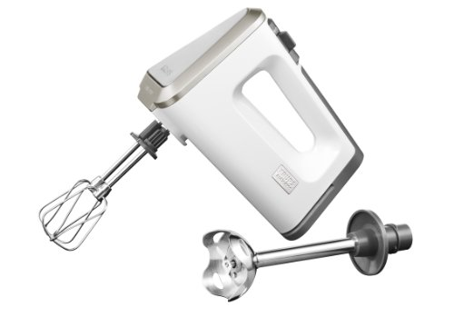 Krups GN 9031 Batteur de cuisine 3 Mix 9000 Deluxe, 400 W (Blanc/gris)