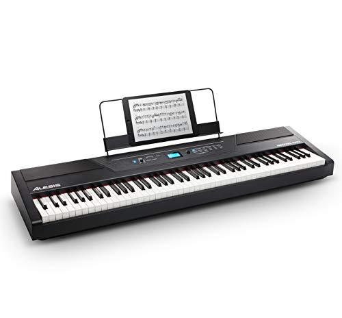 Alesis Recital PRO - Piano Numérique avec Un Clavier de 88 Touches à Mécanique de Marteau, 12 Voix Premium, Enceintes Intégrées, Sortie de Casque et Fonctionnalités Pédagogiques