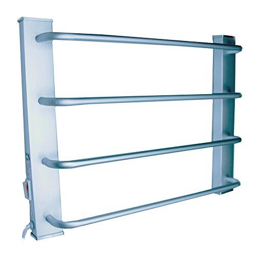 FISHTEC ® Sèche Serviettes Mural - Aluminium brossé - 4 Barres - 60 W