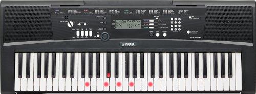 Yamaha EZ-220 – Clavier électronique avec guide lumineux – Instrument de musique portable pour débutants, enfants et adultes – Doté d'un port USB To Host – Noir