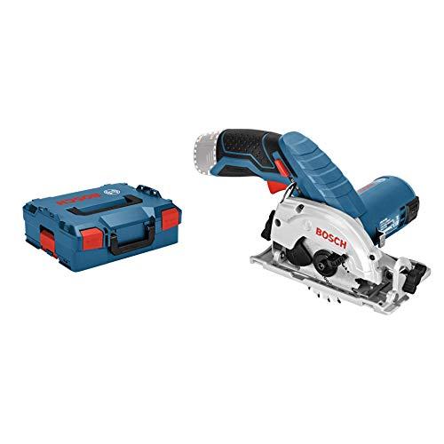 Bosch Professional 06016A1002 12V System Scie Circulaire sans-fil GKS 12V-26 (Diamètre de Lame : 85 mm, sans Batteries ni Chargeur, dans une L-BOXX) Bleu