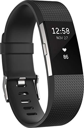 Fitbit Charge 2 Standard Bracelet d'activité et de suivi de la fréquence cardiaque, Mixte Adulte, Prune, Taille S