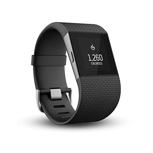 Fitbit Surge Montre de Fitness + tracker d'activités/sommeil Noir Taille L