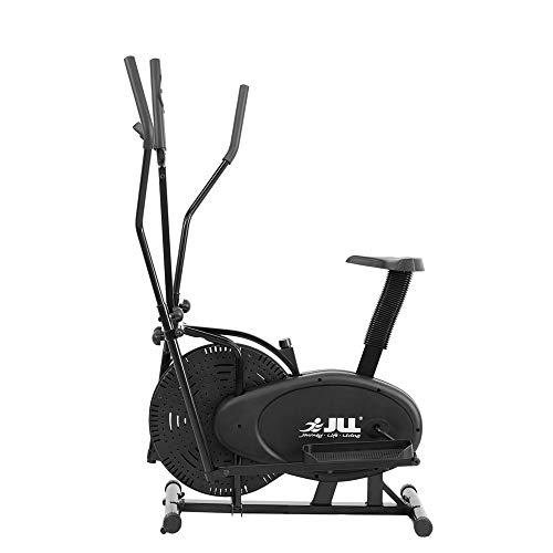 JLL CT100 Vélo elliptique 2-en-1 pour entraînement cardiovasculaire avec résistance Ajustable, Console, Selle réglable sur 5Niveaux et poignées réglables sur 4Niveaux Édition2015 Couleur: Noir.