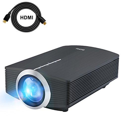 Mini Vidéo Projecteur LED, Deeplee DP500 2000 Lumen Videoprojecteur Portable Soutien HD 1080P HDMI USB VGA AV SD,Projecteur de Cinéma Maison (Noir)