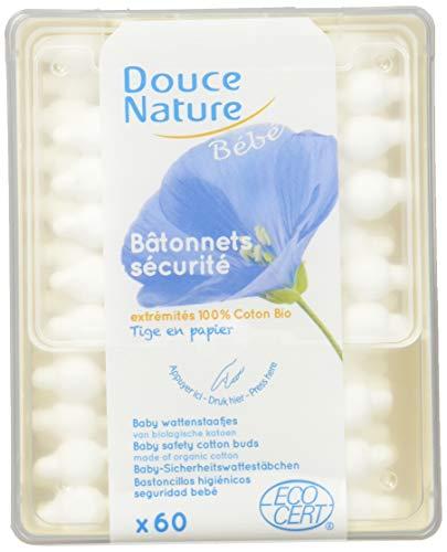 Douce Nature - PRI 5024 - Hygiène Bébé - Bâtonnets Sécurité Bébé Bio Equita - 60 Unités