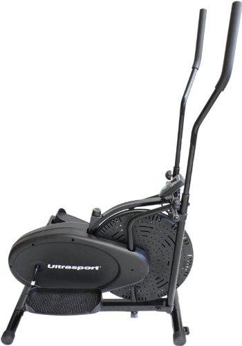 Ultrasport Vélo elliptique Basic X-Trainer 100 avec ordinateur et régulateur de résistance – Vélo d'intérieur certifié TÜV/GS pour le renforcement de la musculation générale