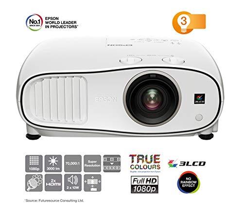 Epson v11h829040EH-TW5000tw6700W 3D Home Cinéma 3Projecteur LCD FULL HD 1080p, SSHD Wirele, H 24%/V 60% Lens-Shift, 3000Lumens, contraste: 70000: 1, 2x HDMI MHL (1x), 1,6x Zoom