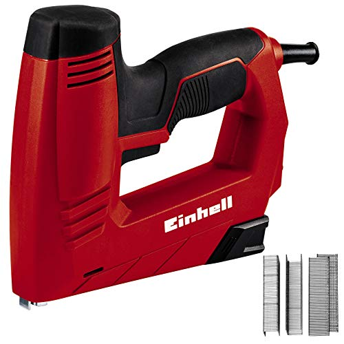 Einhell Agrafeuse électrique TC-EN 20 E (Dimensions agrafes: longueur 6-14 mm, largeur 11,4 mm, dimensions clous: longueur 14 mm, Livré avec 1000 agrafes et 500 clous)