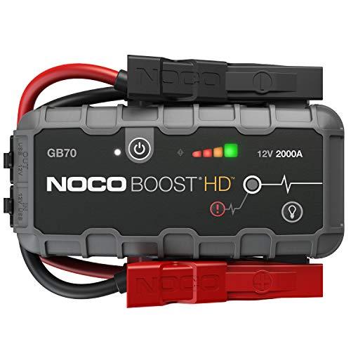 NOCO Boost HD GB70, 12V 2000A Booster Batterie Voiture, UltraSafe Lithium Jump Starter, et Pack de Démarrage Voiture pour Moteurs Essence Jusqu'à 8-Litres et Moteurs Diesel Jusqu'à 6-Litres