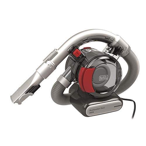 BLACK+DECKER Aspirateur Voiture/Main Dustbuster Flexi PD1200AV (avec Tuyau d'aspiration Flexible avec Connexion Voiture 12V, sans sac, 1x Aspirateur avec Buse Crevasse et Brosse pour Rembourrage)