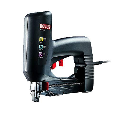 Novus Agrafeuse électrique professionnelle J-165 - Agrafeuse universelle à faible recul pour travaux & décoration - Cloueuse agrafeuse filaire pour charpentier