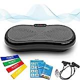 Plateforme Vibrante et Oscillante Ultra Slim Bluefin Fitness | Perte de poids & Brûleur de Graisses à la Maison | 5 Programmes + 180 niveaux | Haut-parleurs Bluetooth | Design Anglais Élégant