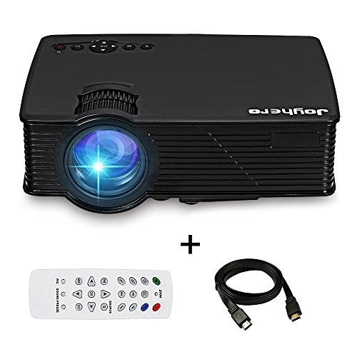 Mini Vidéoprojecteur Portable 2000 LM Joyhero Rétroprojecteur LED Full HD Supporte 1080P LCD Projecteur pour Divertissement /Home Cinéma /Education /Jeux Vidéo /Conférence à L'intérieur ou à Extérieur