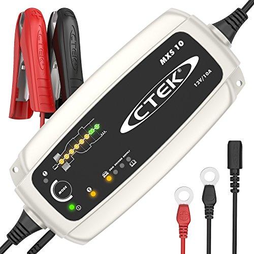 CTEK MXS 10 Chargeur de batterie entièrement automatique (Charge, maintient et reconditionne les batteries auto, roulotte, camping-car) 12V, 10 Amp – prise EU
