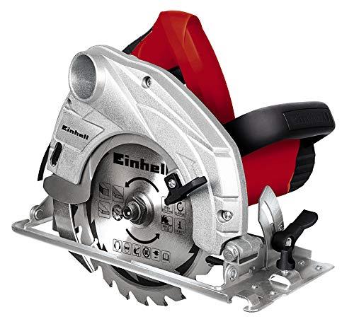 Einhell Scie circulaire TH-CS 1200/1 (1230 W, Capacité de coupe max 90°/45° : 55 / 37 mm, 24 dents, Livré avec butée parallèle et clé pour changement de lame)