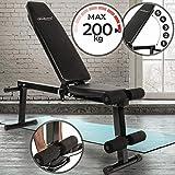 Physionics Banc de Musculation - Réglable & Pliable - Charge Max. 200 kg - Banc d'exercice, Fitness Banc, Banc incliné