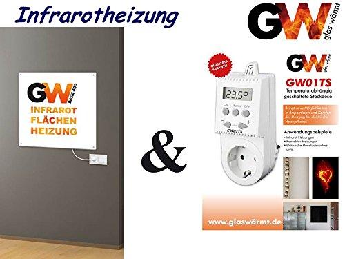 Radiateur à infrarouge 400W Basic avec prise thermostat électrique chauffage infrarouge