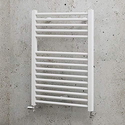 Sèche-serviette pour salle de bain, radiateur à eau chaude vertical, 50 x 70 - 307 W, blanc